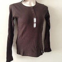 Carhartt Shirt Womens Henley Brown Shirt Xs  Photo