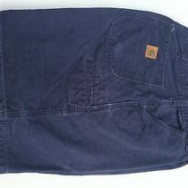Carhartt Shorts Mens Size 34 Navy Blue Light Wear Photo