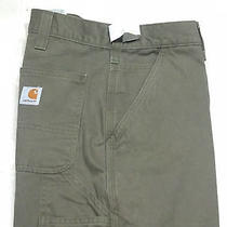 Carhartt Size 36x30 Twill Carpenter Pants B324 Arg Army Green Relaxed Work Fit Photo