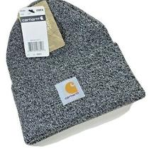 Carhartt Soft Watch Hat - Black and White - Unisex - Teens and Adults. Photo