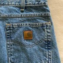 Carhartt Straight Fit Men's Blue Jeans Size 34 X 32
