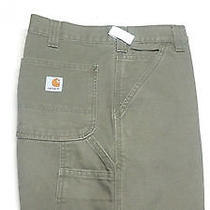 Carhartt Sz 36x30 Carpenter Jeans 100097 301 Green Weathered Relaxed Work Pants Photo