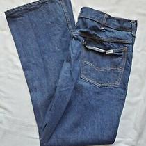 Carhartt Sz 44x34 Mens Relaxed Fit Straight Leg Medium Blue Denim Jeans Photo