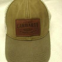 Carhartt Truckers Hat / Cap. Light Olive Green White Mesh. Leather Patch. Osfm Photo