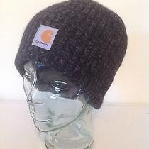 Carhartt Unisex Hat Knit Beanie Watch Sock Cap Gray Black Lamb's Wool Photo
