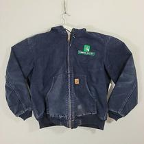 Carhartt Washed Duck Insulated Active Jacket Midnight Blue Men's Size Large Photo