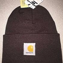 Carhartt Watch Hat Beanie Sock Cap A18 New  Drk Brown Photo