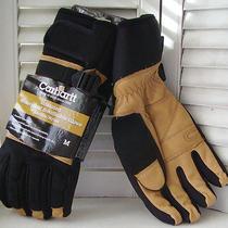 Carhartt  Waterproof Thinsulate Insulated  Leather/nylon Gloves Adjust Cuff  M Photo