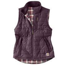 Carhartt Women's Amoret Water Repellent Plum Reversible Vest Small Photo