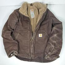 Carhartt Women's Wj022 Dk Brown Barn Chore Horse Sherpa Lined jacket.size Med Photo