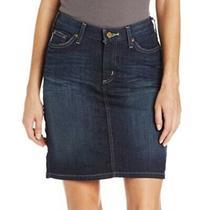 Carhartt Womens Original Fit Blue Dark Wash Denim Jean Pencil Skirt Size 10 Photo