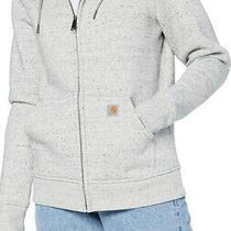 Carhartt Womens Size Large Asphalt Heather Light Blue Zip-Up Jacket Coat Zp-4318 Photo