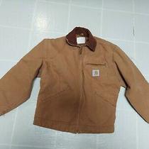 Carhartt Womens Tan Brown Zip Up Jacket Size Small  Photo