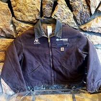 Carhartt Work Jacket J97 Dkb Detroit Blanket Men's Size 2xl Dark Brown Photo