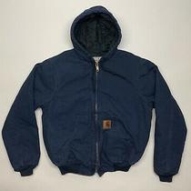 Carhartt Zip Jacket With Hood Navy Tagged Small Photo