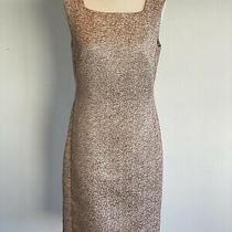 Carla Zampatti Blush Pink Tweed Shift Dress Size 8  Photo