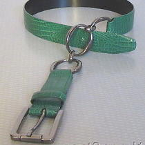 Carlisle Green Croc Gator Leather Belt Xs 28