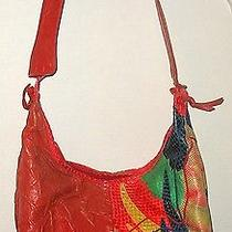 Carlo Fiori of Italy -Genuine Snakeskin Lizard Leather Bright Colors Reptile Bag Photo