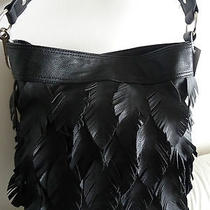Carlos by Carlos Santana Women's Black Fringe Hobo Tote Shoulder Handbag Nwt Photo