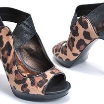 Carlos Santana Shoes Halo Natural/black Leopard Platform Sandals Womens 6 Photo