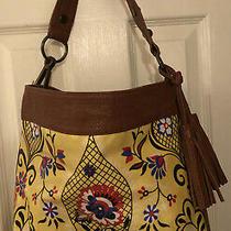 Carlos Santana Yellow Floral Purse Handbag Bag  Hobo Tassels Stella Americana Photo