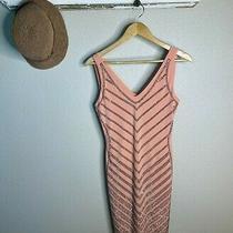 Carmen Marc Valvo Dress Women Sz S Pink Blush Rhinestone Bling Cocktail Bodycon Photo