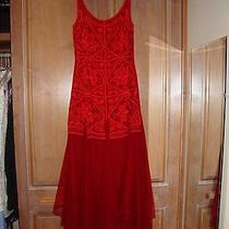 Carmen Marc Valvo Red Dress Size 8 Photo
