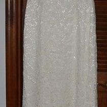 Carmen Marc Valvo Signature Ivory Lace and Beaded Corset Gown Sz 10 Photo
