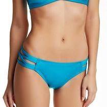 Carmen Marc Valvo Strappy Side Swim Bikini Bottom in Peacock Size Xs New Photo