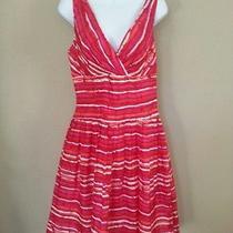 Carmen Marc Valvo Woman's Dress Sleeveless Bright Colors Mix Size 10 Stunning Photo