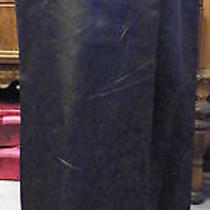 Carmen Valvo Brown Silk Satin Long Formal Evening Skirt 8 Photo