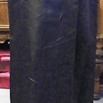 Carmen Valvo Brown Silk Satin Long Formal Evening Skirt 8 Photo