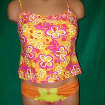 Carolina Colours Swimsuit Top Size S & Billabong Bottom Size M Oranges Photo