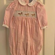 Carriage Boutiques Smocked Romper Carousel Horses - Size 9m Photo
