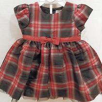 Carter's 2 Piece Red Plaid Dress and Diaper Cover - Newborn - Nwt Photo