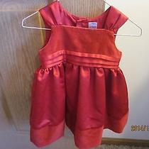 Carter's 6-12mo Red Dress Washable Holiday Polyester & Sleeveless Photo
