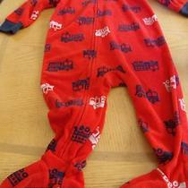 Carter's Baby Boy's Fleece Firetruck Sleeper Pajamas in Size 12 Months  Photo