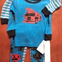 Carter's Baby Boys Fire Engine/striped Pajamas 2 Sets (4 Pcs) Blue/gray/red 2t Photo