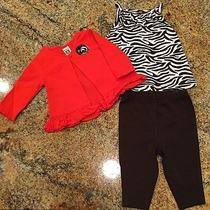 Carters Baby Girls 3 Pc Outfit Infant Size 3 Months Euc Photo