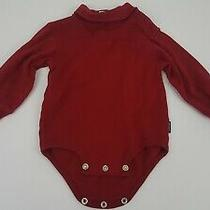Carter's Baby Size 9-12 Months Red Long Sleeve Turtleneck Onepiece Shirt Photo