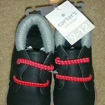 Carter's Black and Red Baby Boys Shoes Photo