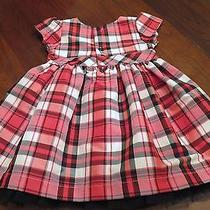 Carter's Black and Red Plaid Christmas Dress 18 Months No Diaper Cover Photo