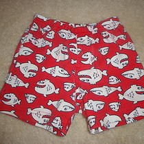 Carter's Boy Red Shorts With Fish 9 Months Photo