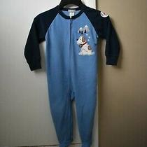 Carter's Boys 2t Footed Pajamas Puppy Rescue Blue Excellent Condition Photo