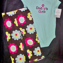 Carter's Girl's 2 Piece Pants/ Bodysuit Set- 18 Months Photo