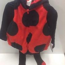 Carters Girls 3pc Fleece Costume Set-Ladybug-6-9 Months Free Shipping Photo