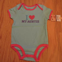 Carter's Girls Aqua I Love My Auntie Short Sleeve Bodysuit 12 Months Nwt Photo