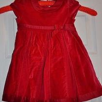 Carter's Girls Red Holiday Dress- 18 Months Photo
