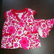 Carter's Girls Toddler Red 18 Month Dress and Diaper Cover  Photo