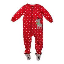 Carter's Holiday Footed Pajamas Size 24 Mo Photo
